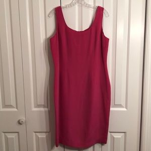 Maggie London size 14 silk 100% pink fitted dress
